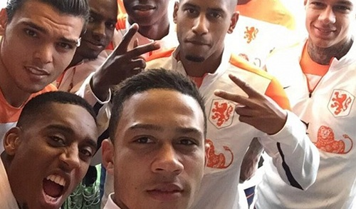 Oranje-selfie