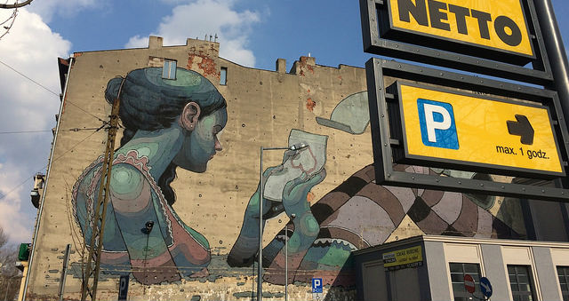 Lodz-mural-parking