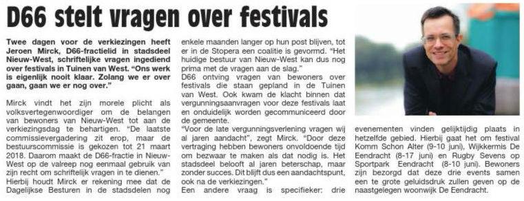 D66 over festivals (2018)